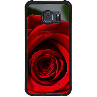 ifasho Red Rose Back Case Cover for Samsung Galaxy S6 Edge Plus