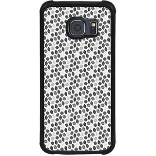 ifasho Animated Pattern colrful design flower with leaves Back Case Cover for Samsung Galaxy S6 Edge Plus