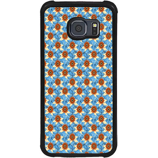 ifasho Modern Art Design animated cloth Pattern of sunflower Back Case Cover for Samsung Galaxy S6 Edge