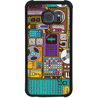 ifasho Animated Pattern design music recording cartoons tape  Back Case Cover for Samsung Galaxy S6 Edge Plus