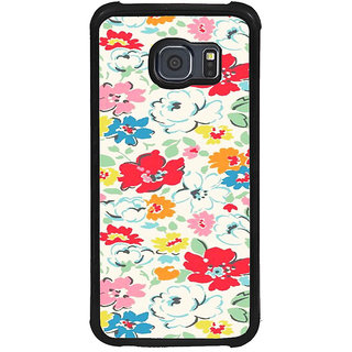 ifasho Animated Pattern colrful flower with leaves Back Case Cover for Samsung Galaxy S6 Edge Plus