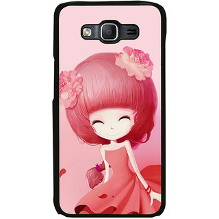ifasho Cute Girl Back Case Cover for Samsung Galaxy On 7