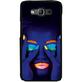 ifasho Girl with shining eyes and lips Back Case Cover for Samsung Galaxy On 7