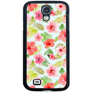 ifasho Animated Pattern mander flower with leaves Back Case Cover for Samsung Galaxy S4