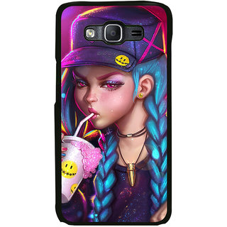 ifasho Girl drinking cold drink Back Case Cover for Samsung Galaxy On 7