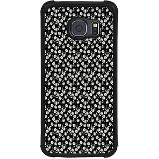 ifasho Modern Art Design animated cloth Pattern of small flower Back Case Cover for Samsung Galaxy S6 Edge Plus