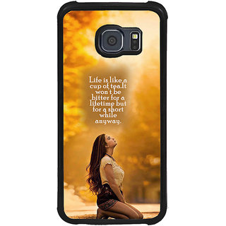 ifasho young Girl with quote Back Case Cover for Samsung Galaxy S6 Edge