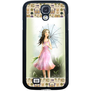 ifasho young Girl with umbrella Back Case Cover for Samsung Galaxy S4