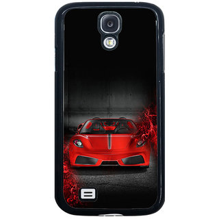ifasho Stylish RED Car Back Case Cover for Samsung Galaxy S4