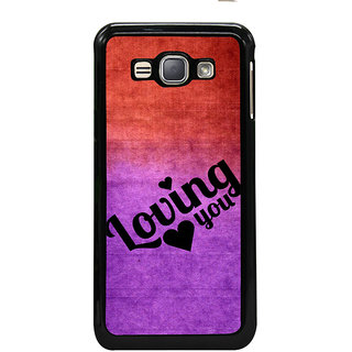 ifasho Loving you Back Case Cover for Samsung Galaxy J1 (2016 Edition)