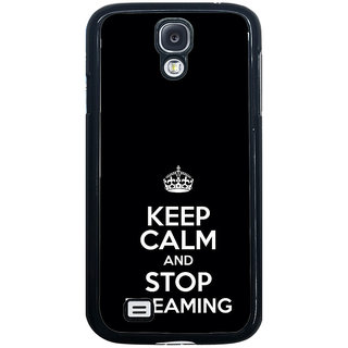 ifasho Nice Quote On Keep Calm Back Case Cover for Samsung Galaxy S4