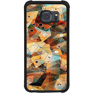ifasho Modern Theme of royal design in colorful pattern Back Case Cover for Samsung Galaxy S6 Edge