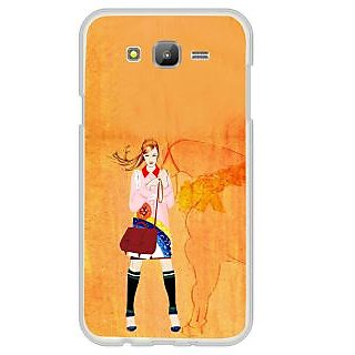 ifasho Girl with Horse Back Case Cover for Samsung Galaxy J7
