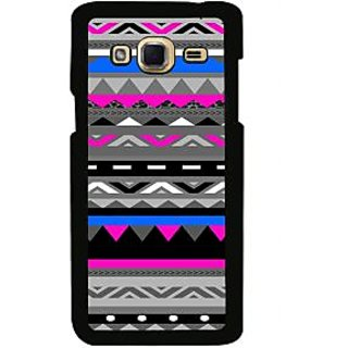ifasho multi color Triangular and circle Pattern Back Case Cover for Samsung Galaxy J3