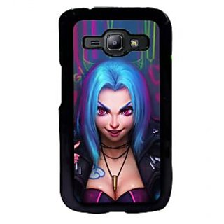 ifasho Blue hair Girl smiling Back Case Cover for Samsung Galaxy J1
