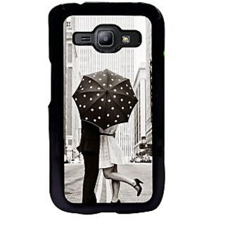 ifasho couple kissing in rain with umbrella Back Case Cover for Samsung Galaxy J1