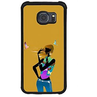 ifasho Girl with Bird Back Case Cover for Samsung Galaxy S6