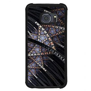 ifasho modern design in multi color pattern Back Case Cover for Samsung Galaxy S6 Edge