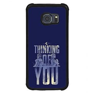 ifasho Thinking of you Back Case Cover for Samsung Galaxy S6 Edge
