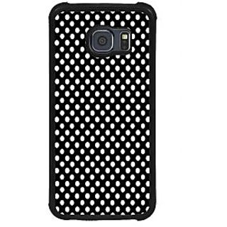 ifasho Modern Theme of white dots in black background Back Case Cover for Samsung Galaxy S6 Edge