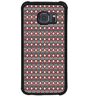 ifasho Animated Pattern of diagonal on black stripes  Back Case Cover for Samsung Galaxy S6 Edge Plus