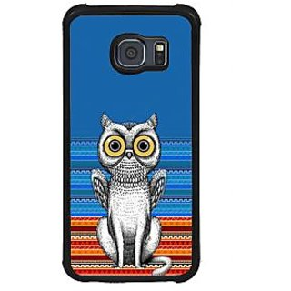 ifasho ModernBird and Owl Pattern Back Case Cover for Samsung Galaxy S6 Edge