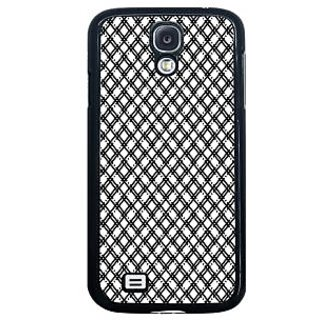 ifasho Modern Theme of black and white Squre lines Back Case Cover for Samsung Galaxy S4