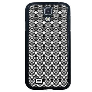 ifasho Animated Pattern design black and white flower in royal style Back Case Cover for Samsung Galaxy S4