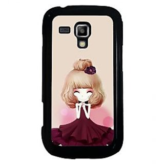 ifasho Girl  with Flower in Hair Back Case Cover for Samsung Galaxy S Duos S7562