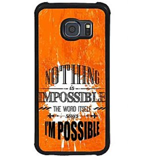 ifasho Good Quote on Achivement Back Case Cover for Samsung Galaxy S6