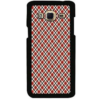 ifasho Colour Full Square Pattern Back Case Cover for Samsung Galaxy J3