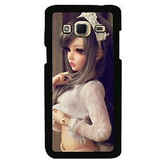 ifasho Winking Girl with Muflor Back Case Cover for Samsung Galaxy J3