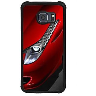 ifasho Red Royal colour Car Back Case Cover for Samsung Galaxy S6