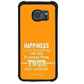 ifasho Faith  Quote on happiness Back Case Cover for Samsung Galaxy S6 Edge Plus