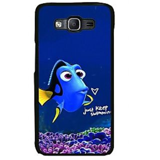 ifasho Fish cartoon just keep swimming Back Case Cover for Samsung Galaxy On 7 Pro