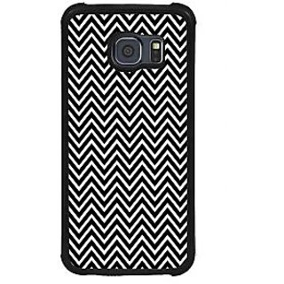ifasho Animated Pattern of Chevron Arrows Back Case Cover for Samsung Galaxy S6 Edge