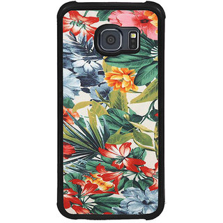 ifasho Animated Pattern colrful flower with leaves Back Case Cover for Samsung Galaxy S6