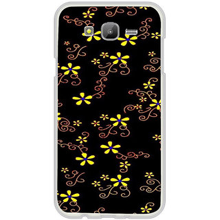 ifasho Animated Pattern colrful design flower with leaves Back Case Cover for Samsung Galaxy J7