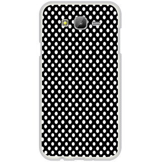 ifasho Modern Theme of white dots in black background Back Case Cover for Samsung Galaxy J5