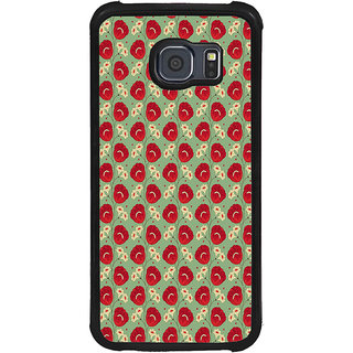 ifasho Animated Pattern flower with leaves Back Case Cover for Samsung Galaxy S6