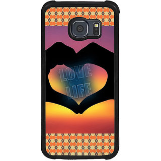 ifasho Love life heart shape made by hand  Back Case Cover for Samsung Galaxy S6 Edge