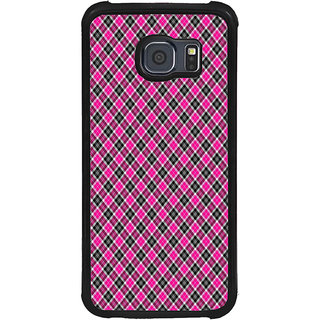 ifasho Colour Full Square Pattern Back Case Cover for Samsung Galaxy S6
