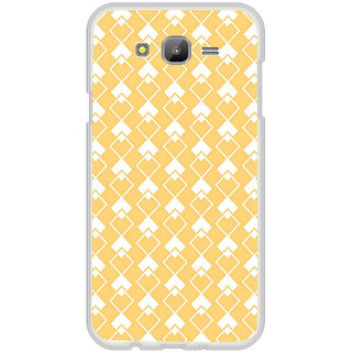 ifasho Orange Colour rectangular Pattern Back Case Cover for Samsung Galaxy J7