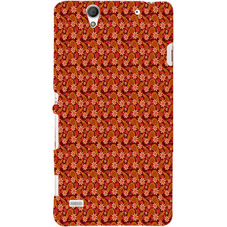 ifasho Animated Pattern colrful design flower with leaves Back Case Cover for Sony Xperia C4