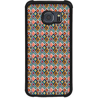 ifasho Animated Pattern design colorful in royal style Back Case Cover for Samsung Galaxy S6 Edge Plus