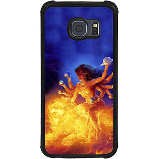 ifasho Godess Durga Back Case Cover for Samsung Galaxy S6 Edge Plus