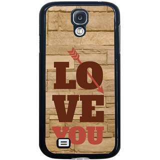 ifasho Quote On Love you and me Back Case Cover for Samsung Galaxy S4