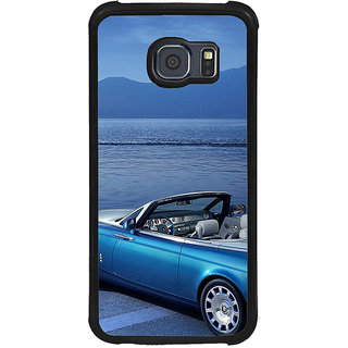 ifasho Long Car in beach Back Case Cover for Samsung Galaxy S6