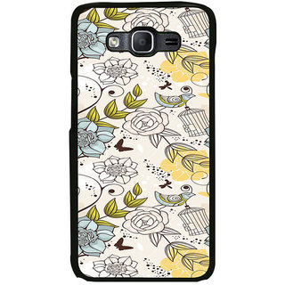 ifasho Animated Pattern colrful design flower and cage and birds Back Case Cover for Samsung Galaxy On 7