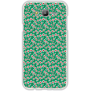 ifasho Pattern green white and red animated flower design Back Case Cover for Samsung Galaxy J5